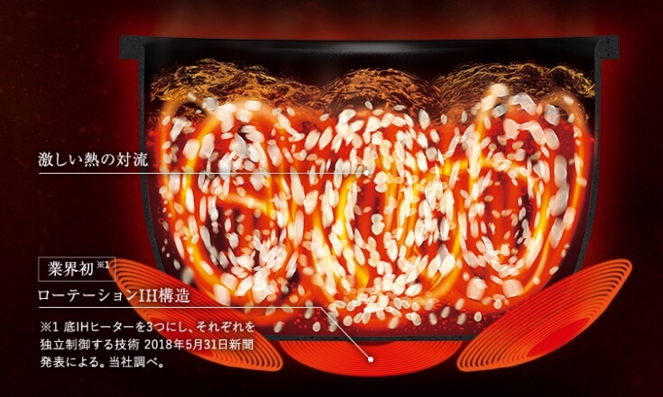 象印マホービンの炎舞炊き