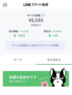 11週目…安定してきました。+83円(1.51%)